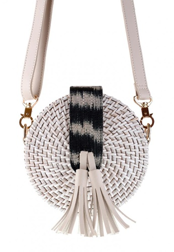 Style Cat white Style Cat Isla White Round Wicker Bag 2331EACEA62807GS_1