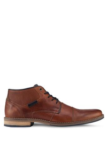Dune London brown Chigwell Metal Eye Chukka Boots 2C6C1SHEA62C25GS_1