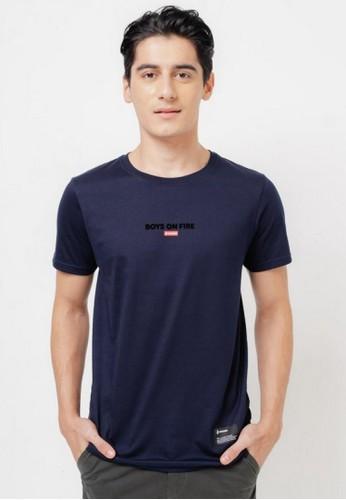 3SECOND blue Men Tshirt 551220 40E73AAAD512D4GS_1