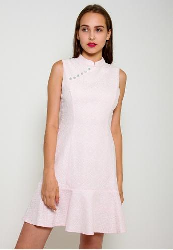 Leline Style pink Aylin Cheongsam Dress 4CB72AAE9B229BGS_1