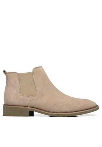 Twenty Eight Shoes beige Cow Suede Vintage Elastic Boots MC126 097B1SHF73F23FGS_1