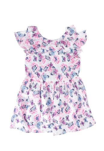 OVS pink Flounce Butterfly Print Dress 71004KA6616D91GS_1