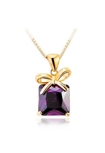 OUXI purple OUXI Sugar Temptation Necklace OU821AC76GLRMY_1
