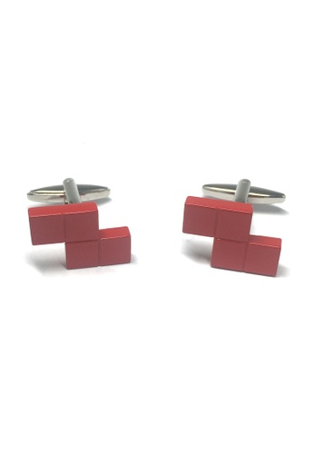 Splice Cufflinks Retro Computer Block Game Red Cufflinks SP744AC48AATSG_1