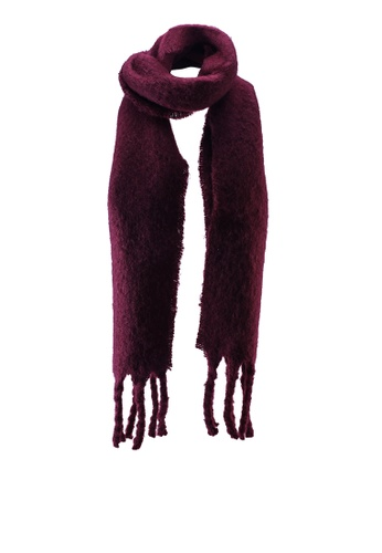 Banana Republic red Solid Faux Mohair Scarf CE3AEAC8E0AA2AGS_1