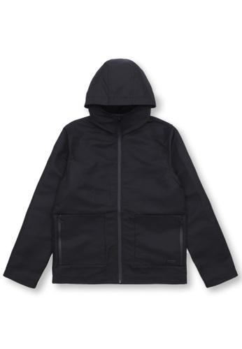 izzue black Hooded jacket E70F3AA05DE404GS_1