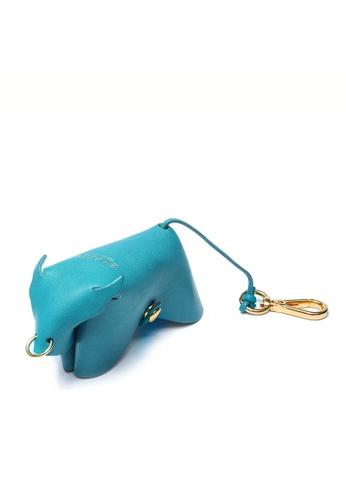 Enjoybag green Zodiac`s Cowhide Leather Key Holder EN763AC46VSBHK_1
