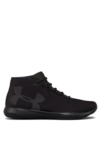 Under Armour black UA Street Precision Mid Shoes UN337SH0S39WMY_1
