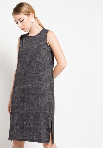 ULTRAVIOLET BY COME black Camelia Midi Dress UL461AA60IAHID_1