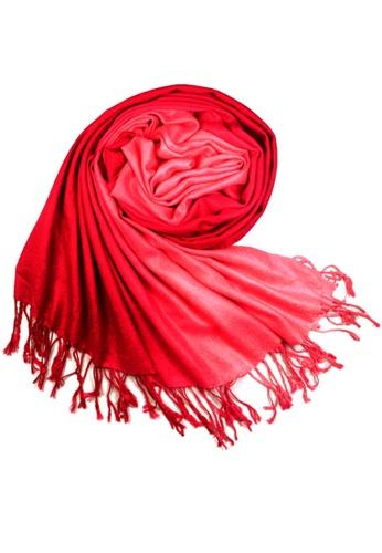 SHINE red Gradient  Pashmina SH554AC05JKGSG_1