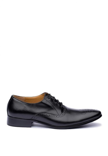 Kings Collection black Niteroi Leather Shoes 3E474SH718EB3CGS_1