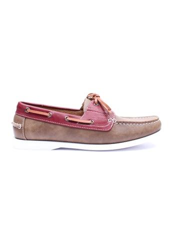 Moley brown Duo Tone Boat Shoe MO329SH04EHZSG_1