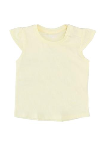 FOX Kids & Baby yellow Cap Sleeves Tee 100B7KA254E987GS_1