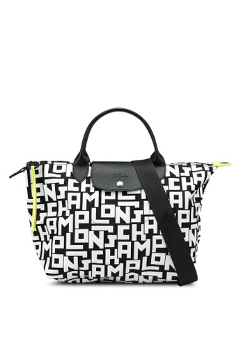 LONGCHAMP black and white Le Pliage LGP Top Handle (nt) 04C4BACE148B8FGS_1