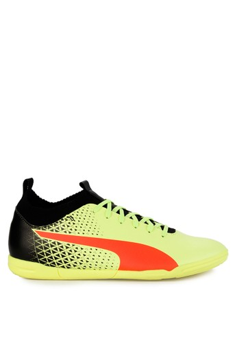 Puma yellow and multi Evoknit FTB IT Shoes B4F28SH53CDFF5GS_1