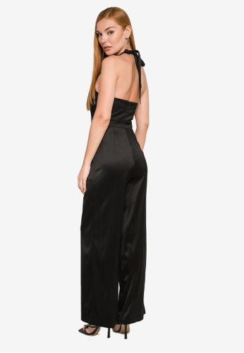 Forever New black Claude Cut Out Jumpsuit EAD4EAA14DBF3BGS_1
