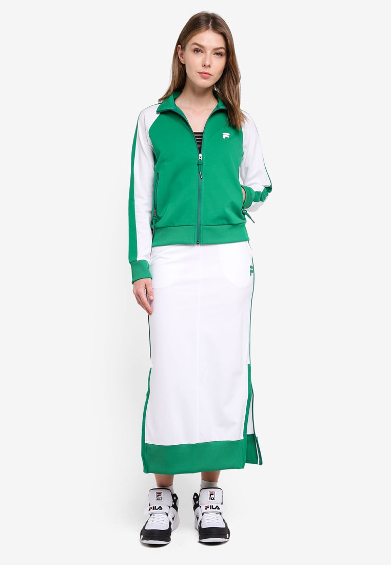 Jacket Zip Orginale Knit White Green FILA PyqZYvw6P