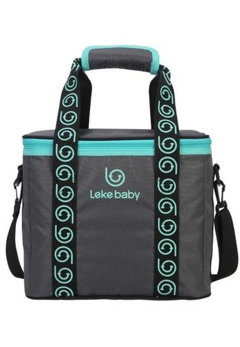 lekebaby grey Leke Baby Premium Large Capacity Multifunctional Breast Milk Cooler Bag 756 FED9AKC049C3A0GS_1