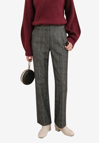 NAIN grey Checkered Pants B16B1AAA881948GS_1