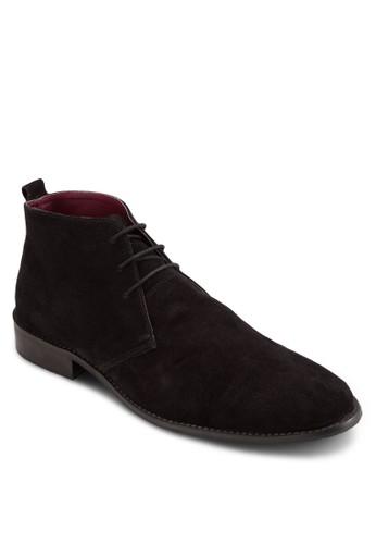 三眼繫帶麂皮短靴, 鞋,zalora鞋 鞋