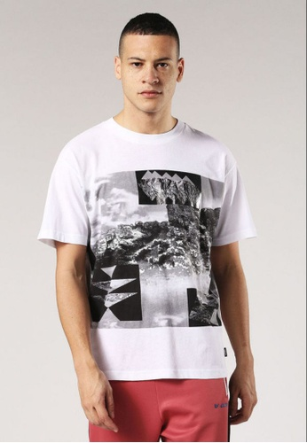 Diesel white T-Wallace-Ab Loose Fit T-Shirt 74F35AAD0C74F1GS_1
