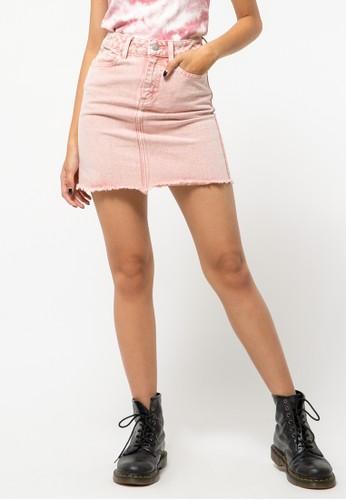 COLORBOX pink Tye Dye Skirt 2E895AAA4FAE56GS_1