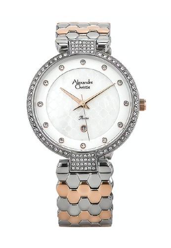 Alexandre Christie gold and silver Alexandre Christie Jam Tangan Wanita - Silver Rosegold White - Stainless Steel - 2686 LDBTRSL  362D1AC5D0D087GS_1