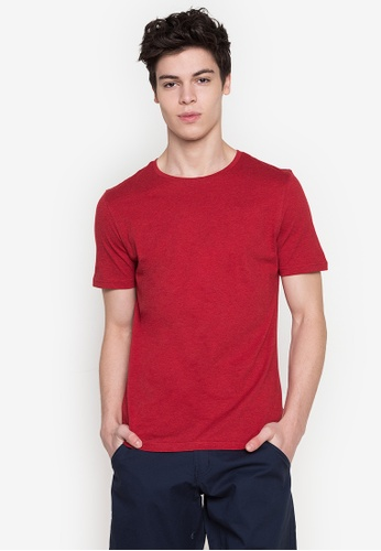 MARKS & SPENCER red M&S Collection Slim Fit Cotton Crew Neck T-Shirt 48FFDAA99CCFA8GS_1