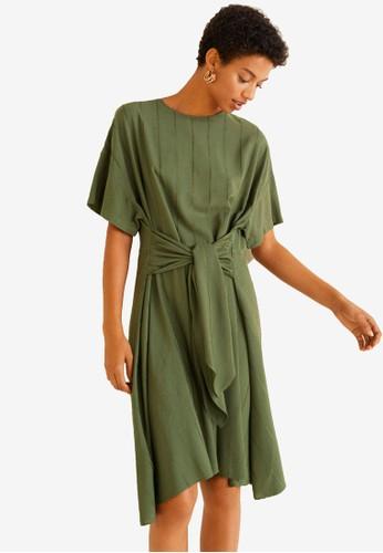 MANGO green Striped Bow Dress 7E2E2AAFE535AEGS_1