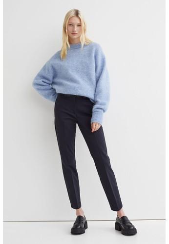 H&M blue Cigarette trousers D7116AA6126B82GS_1