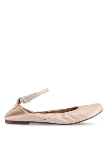 Anacapri 米褐色 繞踝平底鞋 E7D65SHE4C3F4BGS_1