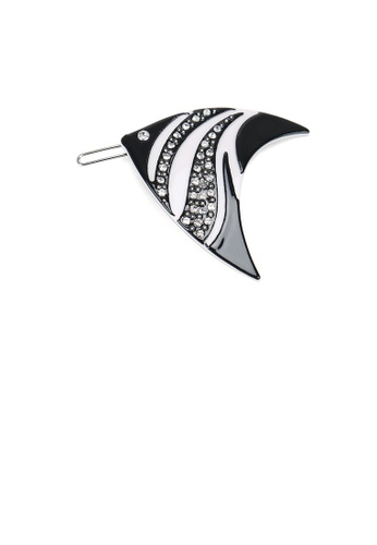 Glamorousky white Simple and Cute Black Tropical Fish Hair Clip with Cubic Zirconia 21050AC2467C31GS_1