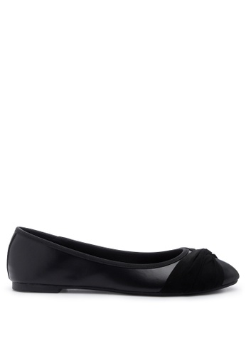 London Rag 黑色 蝴蝶结的黑色芭蕾舞鞋 351F2SHB70E4F4GS_1
