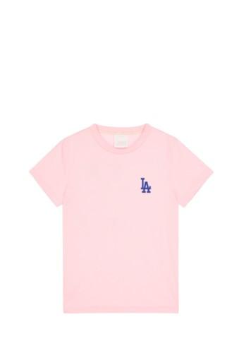 MLB pink MLB X DISNEY SHORT SLEEVE T-SHIRT LA DODGERS PINK 5E7E5AA39347C6GS_1