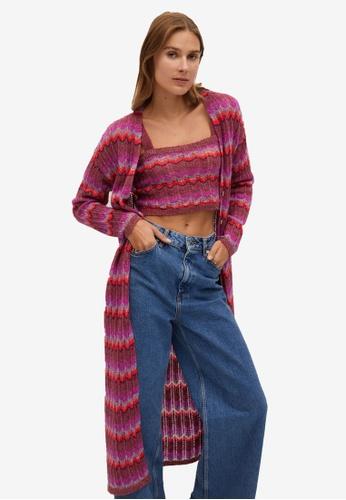Mango purple Multicolour Knit Cardigan B8A15AAD85A425GS_1