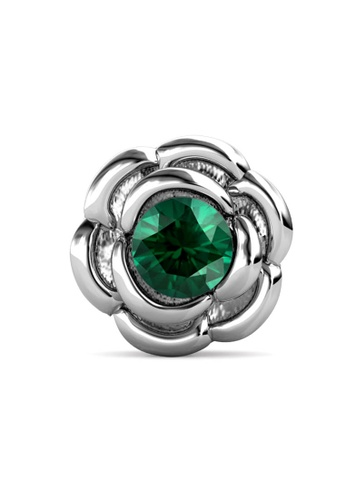 Her Jewellery silver Petunia Brooch (May, White Gold)-  Made with premium grade crystals from Austria D6B51AC3B9363DGS_1