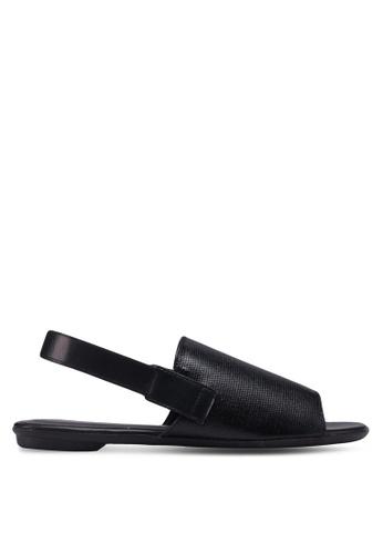 Something Borrowed black Sling Back Sandals A6F5CSH78E8930GS_1