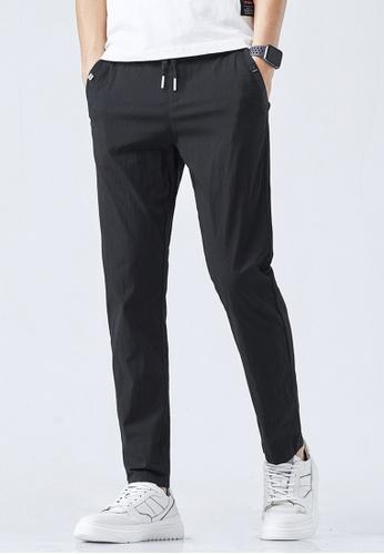 Trendyshop black Slim Casual Pants AC351AA17D1033GS_1