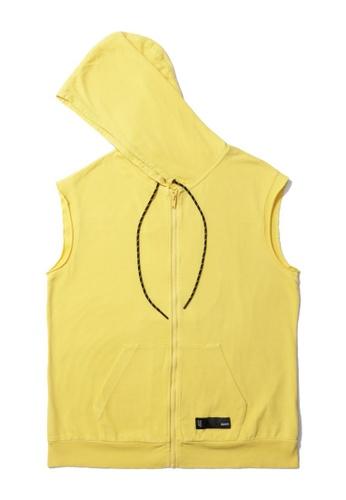 Fivecm yellow Anti-Gravity sleeveless zip hoodie BBDECAA087829FGS_1