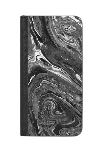 Casetify black and white Monochrome Marble Lines - Wallet Case with RIFD for iPhone XS/ iPhone X 188E5AC295F102GS_1