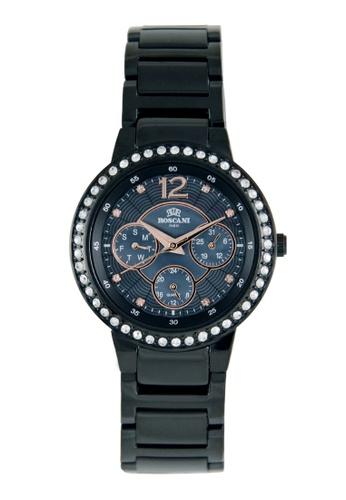 Roscani black Roscani Dixie 930 (Multifunction + WR 5ATM) Black Bracelet Women Watch 0CAECAC5BFF2C3GS_1
