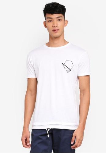OVS 白色 短袖印花T恤 2C480AA479D75EGS_1