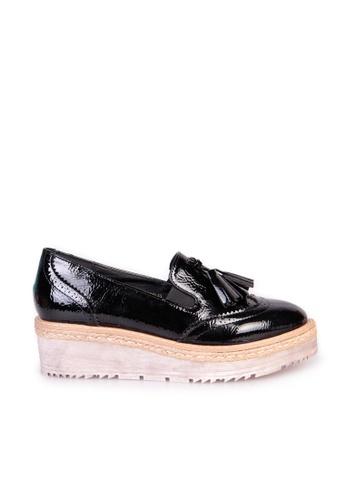 Sunnydaysweety 黑色 限量秒殺品 - 2017 復古新款雕花流蘇厚底船鞋C03252BK SU395SH08ZACTW_1