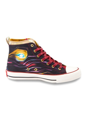 MARVEL red Marvel Infinity Iron Man High Top Fashion Canvas Shoes 91383KSD35C4E9GS_1
