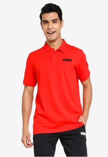 PUMA red Essentials Piqué Men's Polo Shirt A4731AAFF995CCGS_1