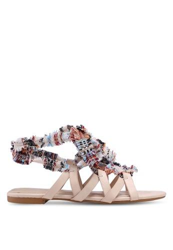 ZALORA beige Lace Up Gladiator Sandals ACA44SH943E037GS_1