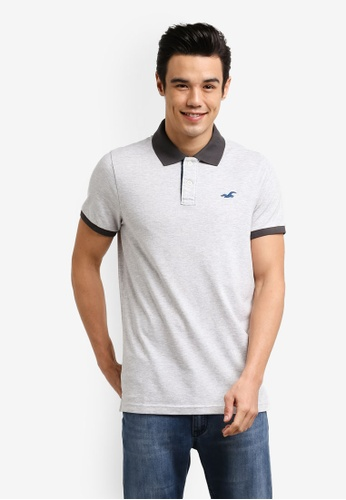 Hollister grey Stretch Core Polo Shirt HO422AA0RCQSMY_1