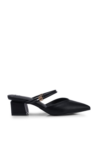 Kimmijim black Keisha Pointed Toe Block Heels 343FCSH896818CGS_1