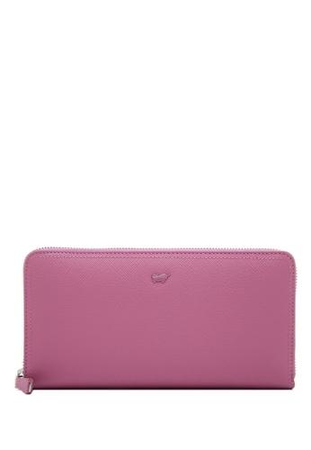 Braun Buffel purple Heidi Zip Long Wallet 00810AC58DC485GS_1