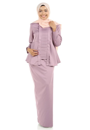 Marzia Kebaya Peplum with Pleats from Ashura in Purple